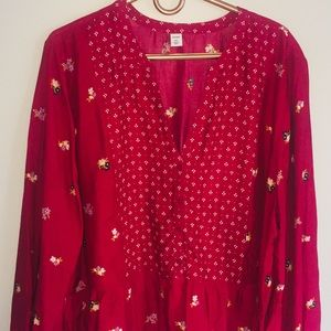 Old Navy XXL BabyDoll Long Sleeve Floral  Top